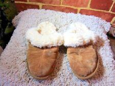 EMU Wilpena Unisex Brown Suede Sheep Skin Slip On Slippers US Size W9-M8 2353