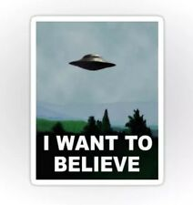 X-Files I want to Believe Moulder Skully UFO Sticker decal car laptop scrapbook