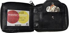 Men's Zip Around Leather Wallet 6 credit card ID Coin case 2 Billfold New wallet