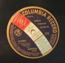 Chicago Symphony on 78 rpm Columbia A5860: Carmen-Two Spanish Dances E+ 1916