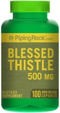 BLESSED THISTLE 500mg NURSING MOTHERS OXYGEN BLOOD FLOW TO BRAIN 100 CAPSULES
