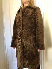 ELEGANCIA REAL SHEARLING FUR LEATHER COAT REVERSIBLE ARGENTINA SIZE S