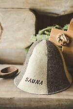 Sauna Hat 100% Natural Wool Felt Cap Bath House Kit Saunahut Saunamütze Mütze