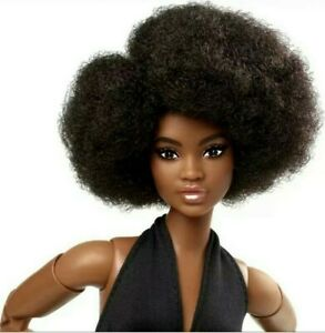 2021 Barbie Looks Doll Line GTD91 African American AA Afro Curvy Brunette M2M