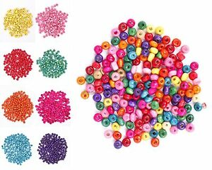 Wholesale 1000pcs Wood Spacer Beads 5.5x3mm Jewelry Making Findings bw