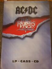 "ACDC - The Razors Edge - *GIANT* 60""x40"" Promo Poster *RARE*"