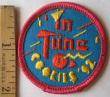 "Vintage Girl Scout 1992 COOKIE SALE PATCH ""In Tune"" Geometric Shapes NEW"