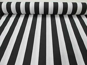 Black White Striped Fabric Sofia Stripes Curtain Upholstery Material 280cm wide