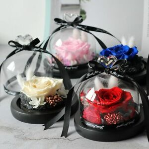 Hot Valentines Day Gift Forever Rose Flower Rose In Flask Glass Dome Mother's