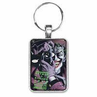 Batman The Killing Joke Graphic Novel Cover Key Ring or Necklace Joker Batgirl