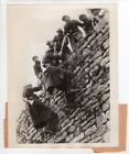 1940 French North African Colonial Troops Climb Wall Western Front News Photo