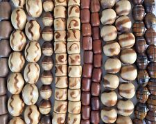 Wood & Horn Chunky Beads Large Lot Unique Boho Natural Jewelry Components