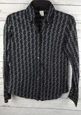J Crew Cotton Voile Shirt Top Size 4 Black Floral