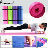 Durable 6/10/15MM Thick Non Slip Yoga Mat Pad Exercise Fitness Gym Cushion free