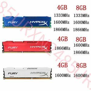 64GB 32GB 16GB 8GB 4GB DDR3 1333 1600 1866 DIMM Desktop RAM For HyperX FURY Lot
