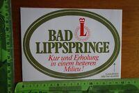Alter Aufkleber Reise Inland BAD LIPPSPRINGE