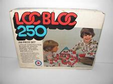 Vintage 1975 Entex LOC BLOC 250 Pc Set CONSTRUCTION BLOCKS w/ Original Box