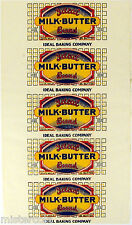 Vintage bread wrapper IDEAL MILK BUTTER early Union Made unused new old stock