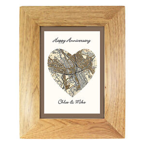 PERSONALISED MAP LOCATION PICTURE GIFT House Warming, New Home, Leaving Job idea