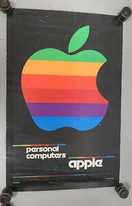 "1980 Vintage ORIGINAL APPLE MAC PERSONAL COMPUTERS Poster Advertising 23 x 35"""