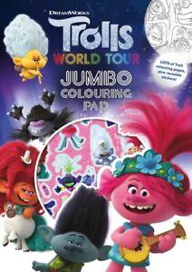 Trolls World Tour A4 Jumbo Colouring Pad - Christmas Gift - Free P&P