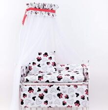 7-teilige Babybettwäsche 80x70 Komplettset für Beistellbett Himmel Minnie Mouse