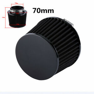 Air Filter 70 mm High Cold Air Filters 2.75 inches Black For Car Motorcycle