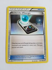 Recherche d'Energie Noir et Blanc 93/114 Carte Pokemon Française commune