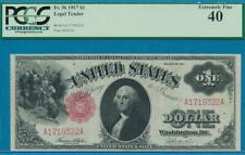 $1.00 FR.36 1917  RED SEAL LEGAL TENDER UNITED STATES NOTE  PCGS XF40