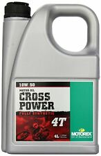 Motorex Motorcycle Racing CROSS POWER 10W/50 4T Engine Oil 4 Litre FAST DISPATCH