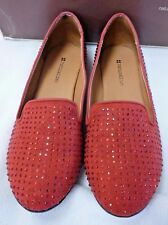 "NATURALIZER  SMOLDER RED FABRIC  SPARKLE 7 M  FLATS MSRP $60 NIB 1/2"" HEEL SHOES"