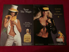 Patron Tequila sexy ladies 2-page 2000 Print Ad - Great to Frame!