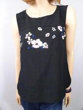 PORTMANS Black Floral Top Sz 10
