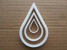 Set Of 3 Sizes Raindrop Rain Drop Cookie Cutters Tear Droplet Water Liquid Drip