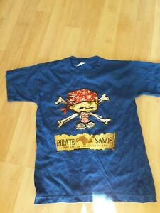 Boys Blue Short Sleeved Top With Pirate Age 4 Years