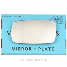 For Volvo 940 1991-1998 Left Passenger side Aspheric wing mirror glass +plate