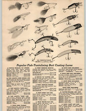 1954 PAPER AD Bunyan 66 Spinner Tony Accetta River Devil Fishing Lure South Bend