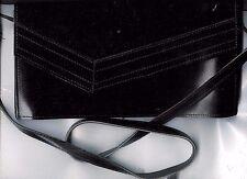 sac à bandoulière vernis noir
