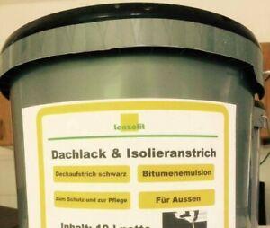 Emulsion LF Dachlack- und Isolieranstrich  Abdichtung Bitumenanstrich schwarz
