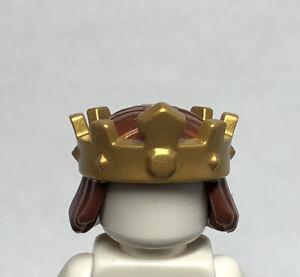 NEW LEGO Crown W/ Reddish Brown Hair Castle Minifigure Headwear Headgear Fig J12