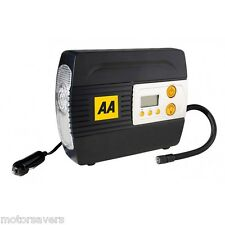 AA 12v Digital Tyre Inflator / Compressor With  Gauge And Light - Free Courier