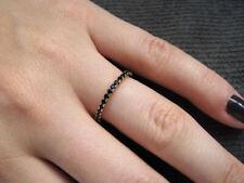 1Ct Round-Cut Black Diamond Eternity Wedding Engagement Band Ring 14k White Gold