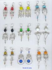 Earrings Peru Wholesale Lot 50 Glass Dangle Long Drop
