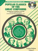 PROGRESSIVE POPULAR CLASSICS VOL 3 Classical Guitar Music Book & CD Shop Soiled