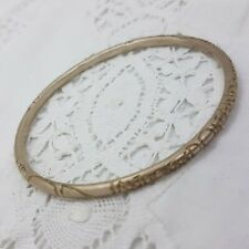 DIANA PORTER Sterling Silver Bangle ON AND ON Narrow Etched Uppercase Letters