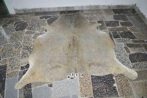 GRAY EXOTIC-   Rug HAIR ON SKIN  Leather Cowhide Rug  4513-   72'' x  60''
