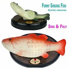 Funny Electronic Singing Plastic Fish Battery Powered Robot Toy Simulation