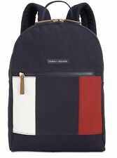NEW WITH TAGS TOMMY HILFIGER ICONIC TH FLAG PRINT CANVAS BACKPACK 🎒 🎒