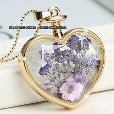 Regalos para ella mujer oro y púrpura Collar De Corazón Amor Mama Hija Hermana Hembra