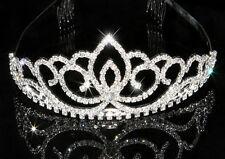 Bijoux femme enfant accessoire de mariage miss diadème argenté cristal clair